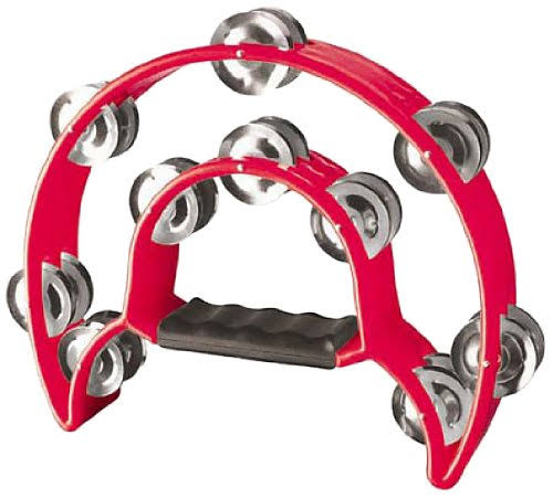 Stagg TAB-1 RD Cutaway Plastic Tambourine - Red, with 20 Jingles