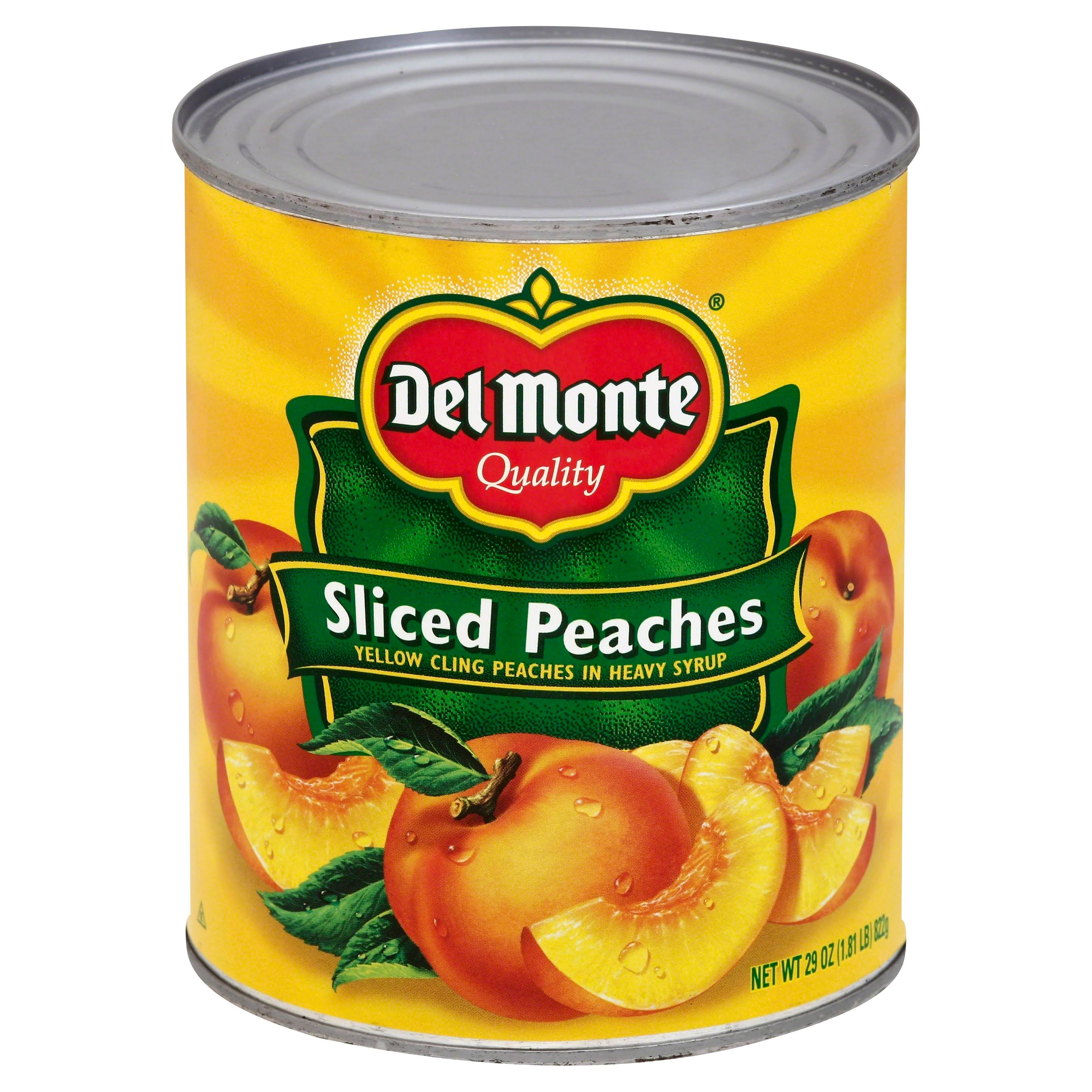 Del Monte Peaches, Sliced, in Heavy Syrup - 29 oz