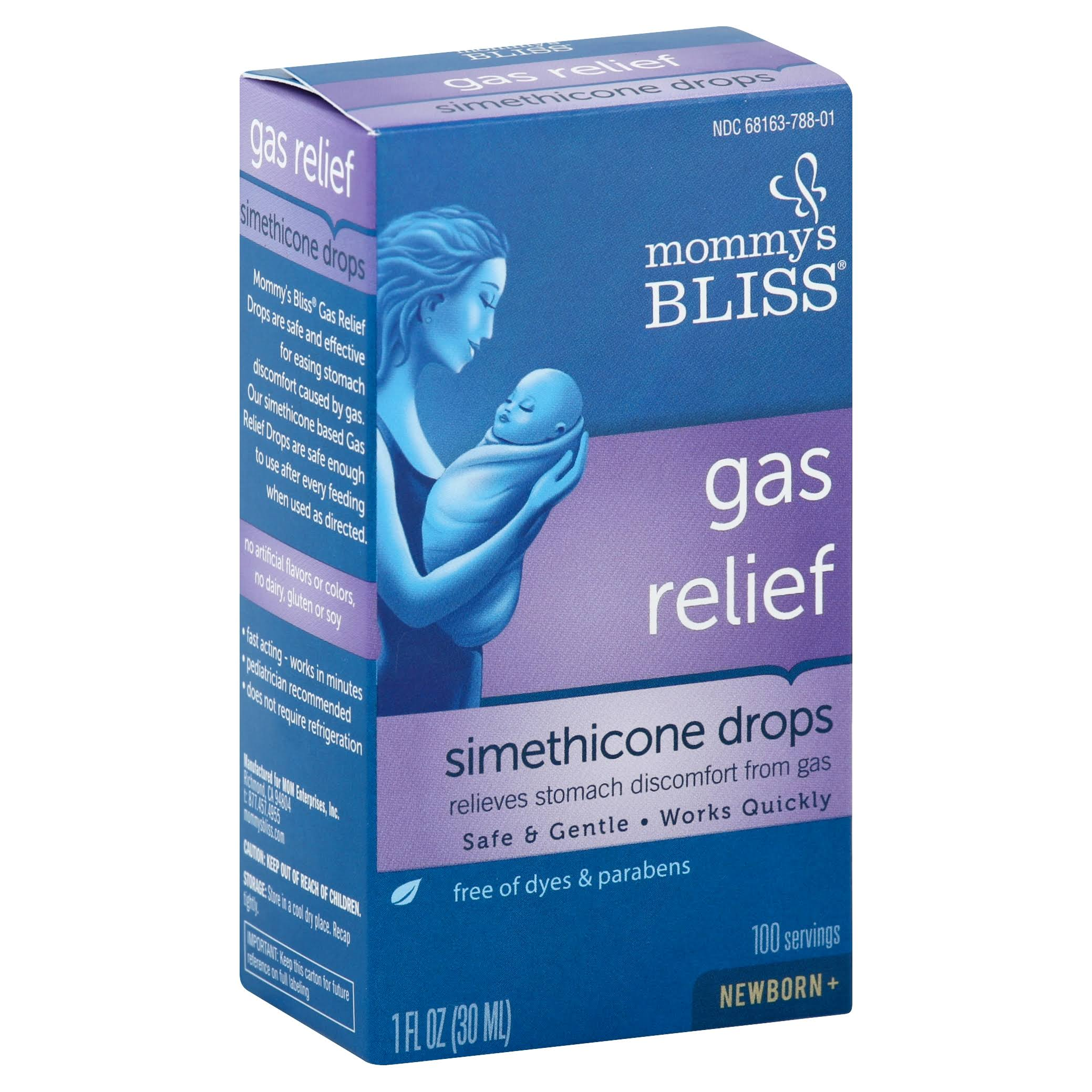 Mommy's Bliss Gas Relief Simethicone Drops Supplement - 1oz