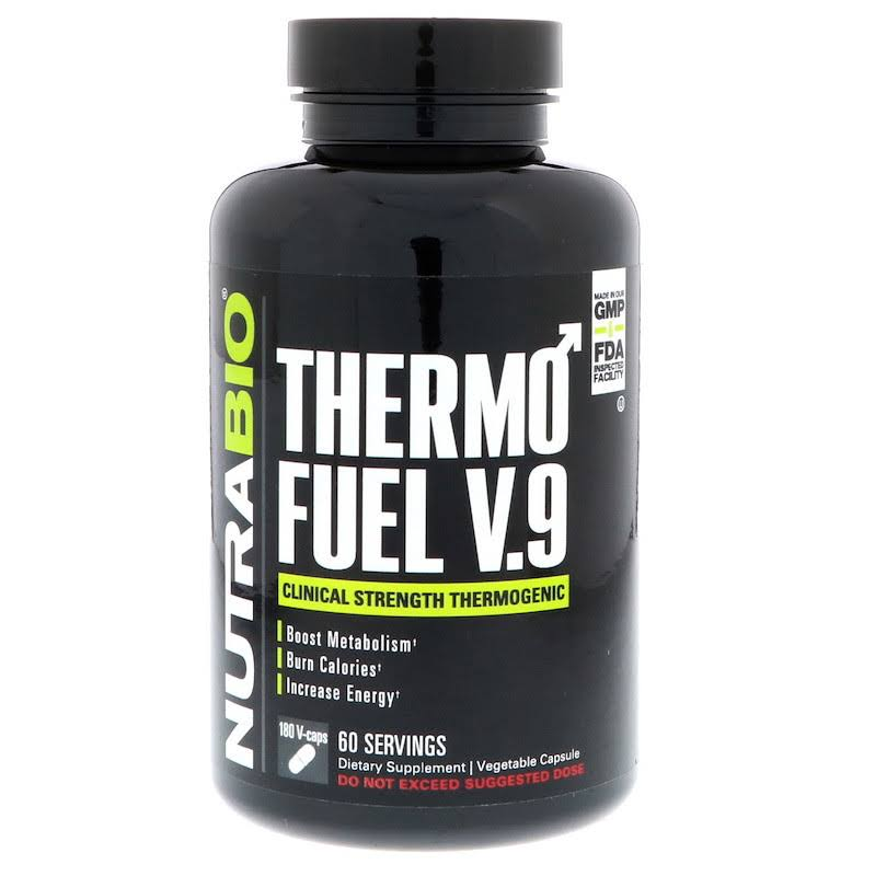 NutraBio Thermofuel V9 for Men Supplement - 180 Capsules