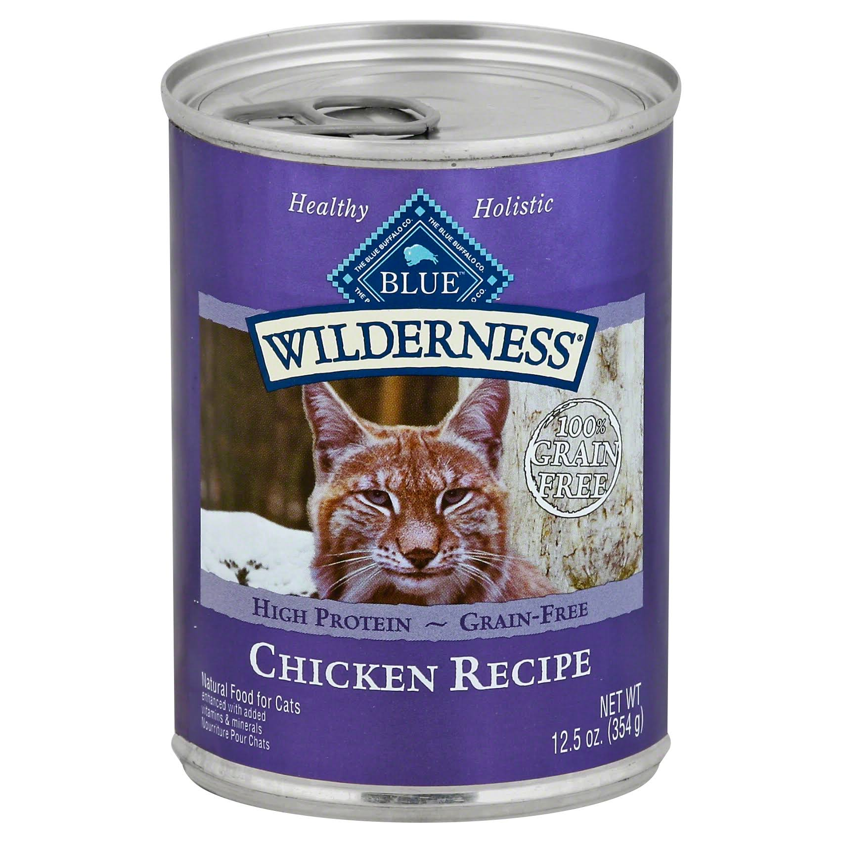 Blue Wilderness Food for Cats, Natural, Chicken Recipe - 12.5 oz