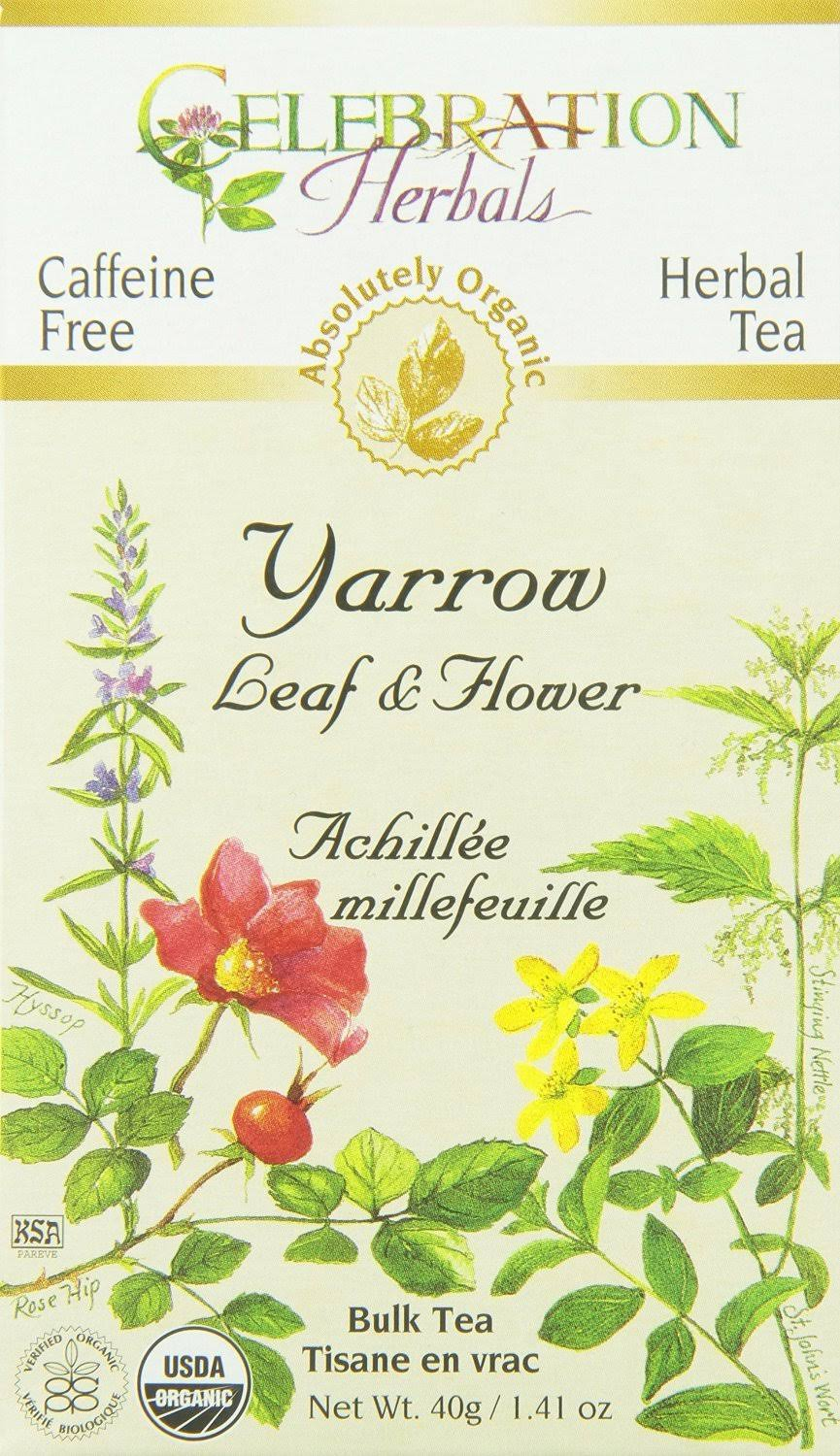 Celebration Herbals Organic Tea - Yarrow Leaf Flower, 40g