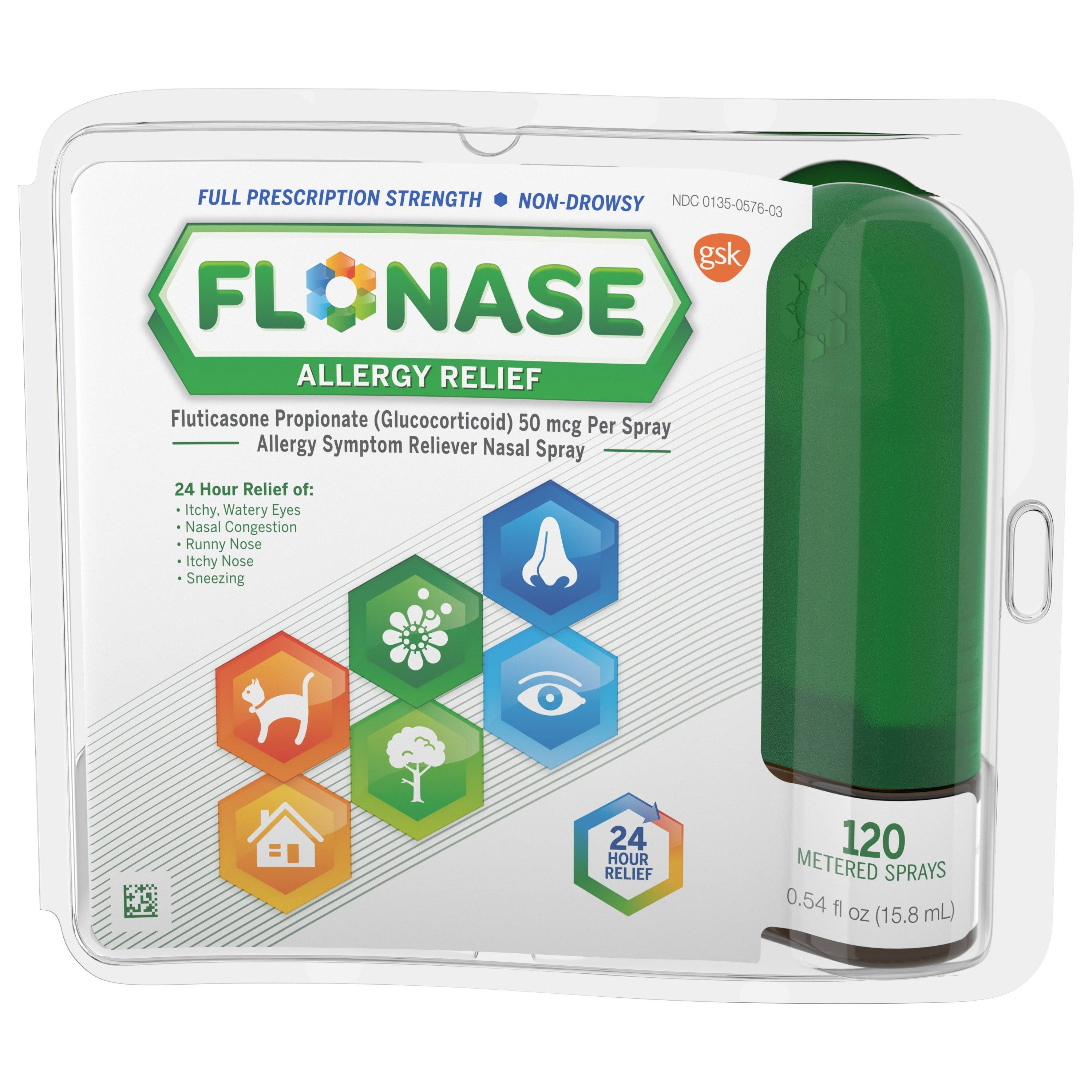 Flonase Allergy Symptom Reliever Nasal Spray - 15.8ml