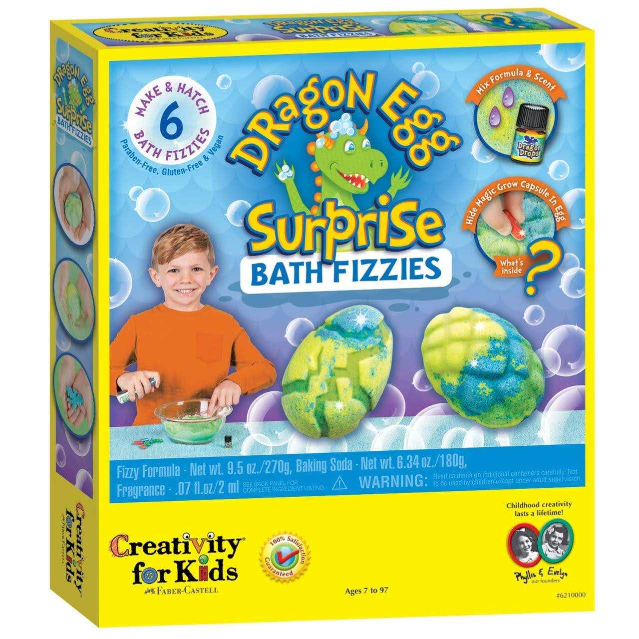 Creativity for Kids Dragon Egg Surprise Bath Fizzies Kit