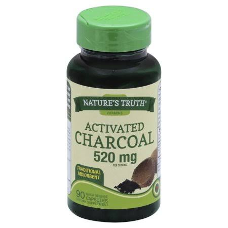 Natures Truth Activated Charcoal, 520 mg, Capsules - 90 capsules