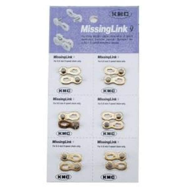 KMC MISSING LINK Bicycle Chain Link - 9 Speed, 6 Pack