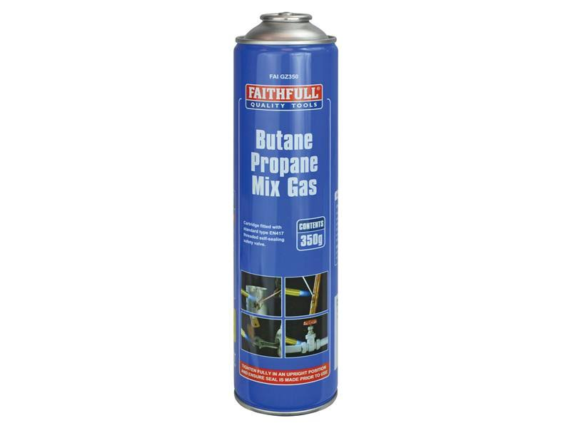 Faithfull Butane Propane Mix Gas Cartridge