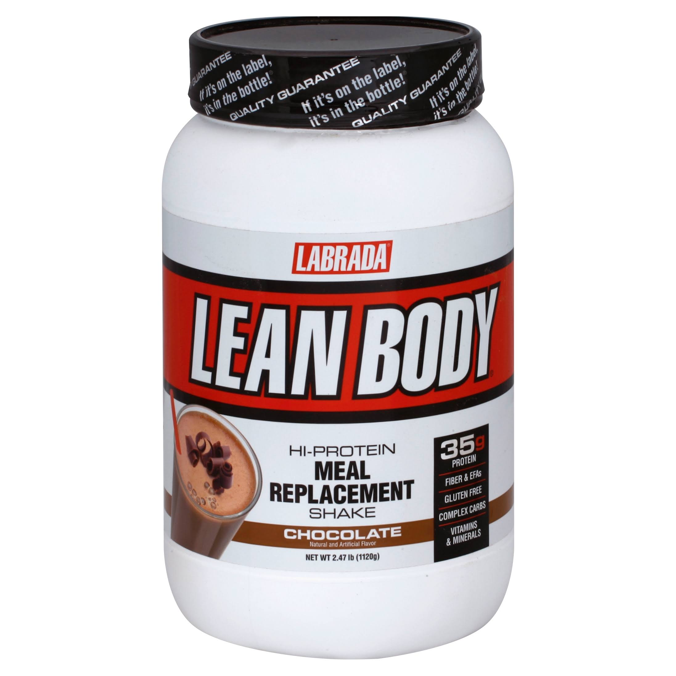 Labrada Nutrition Lean Body High Protein Meal Replacement Shake - Chocolate, 2.47lbs