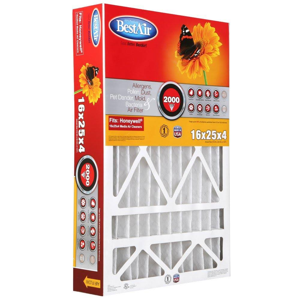 "Best Air Honeywell Pleated Filter - 16"" x 25"" x 4"""