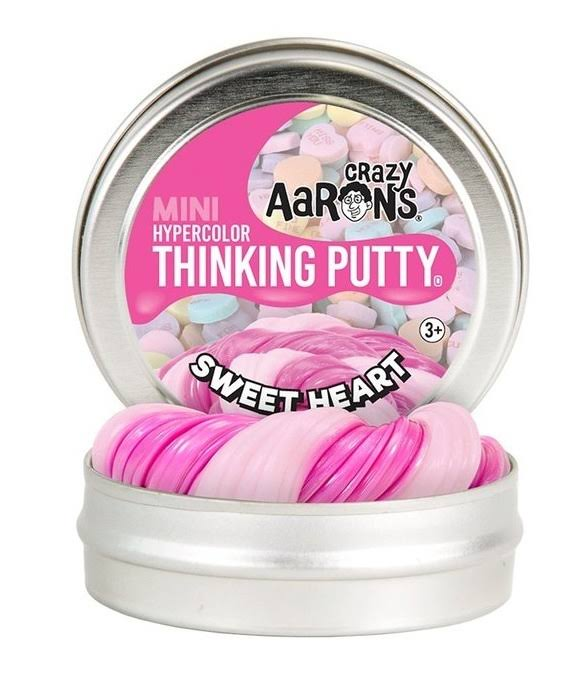 Crazy Aaron's Thinking Putty Sweet Heart Hypercolour Putty - Mini Tin