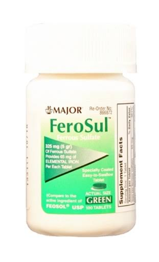 Major Ferosul Ferrous Sulfate - 100 Tablets