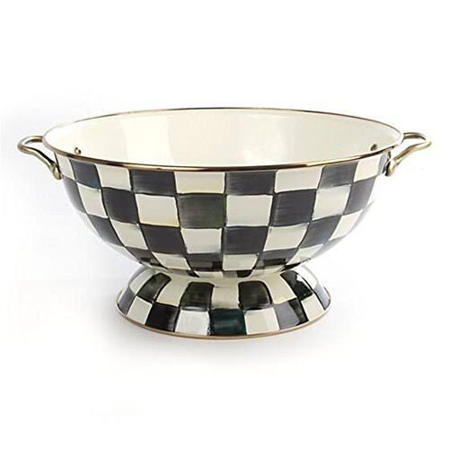 MacKenzie Courtly Check Enamel Bowl