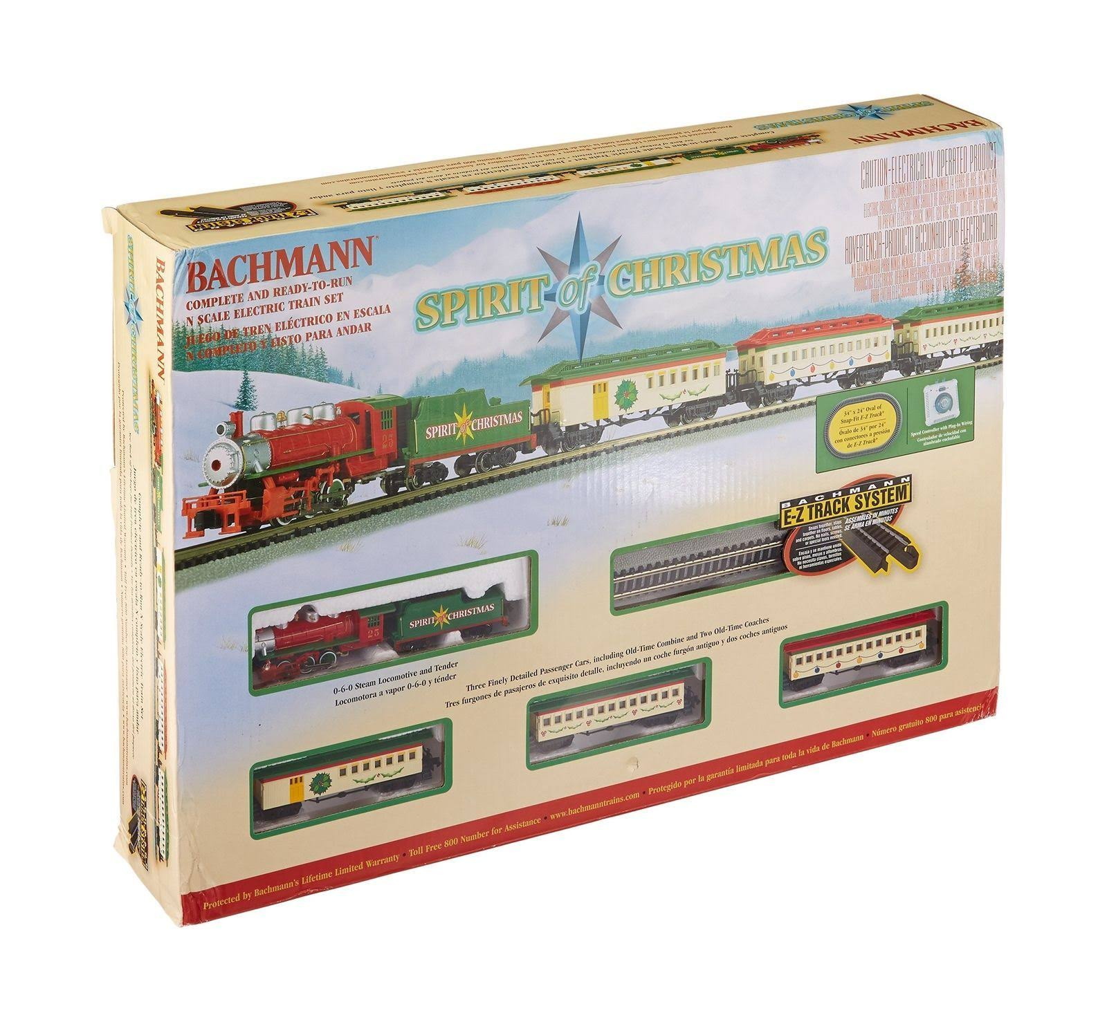 Bachmann N Spirit of Christmas Train Set
