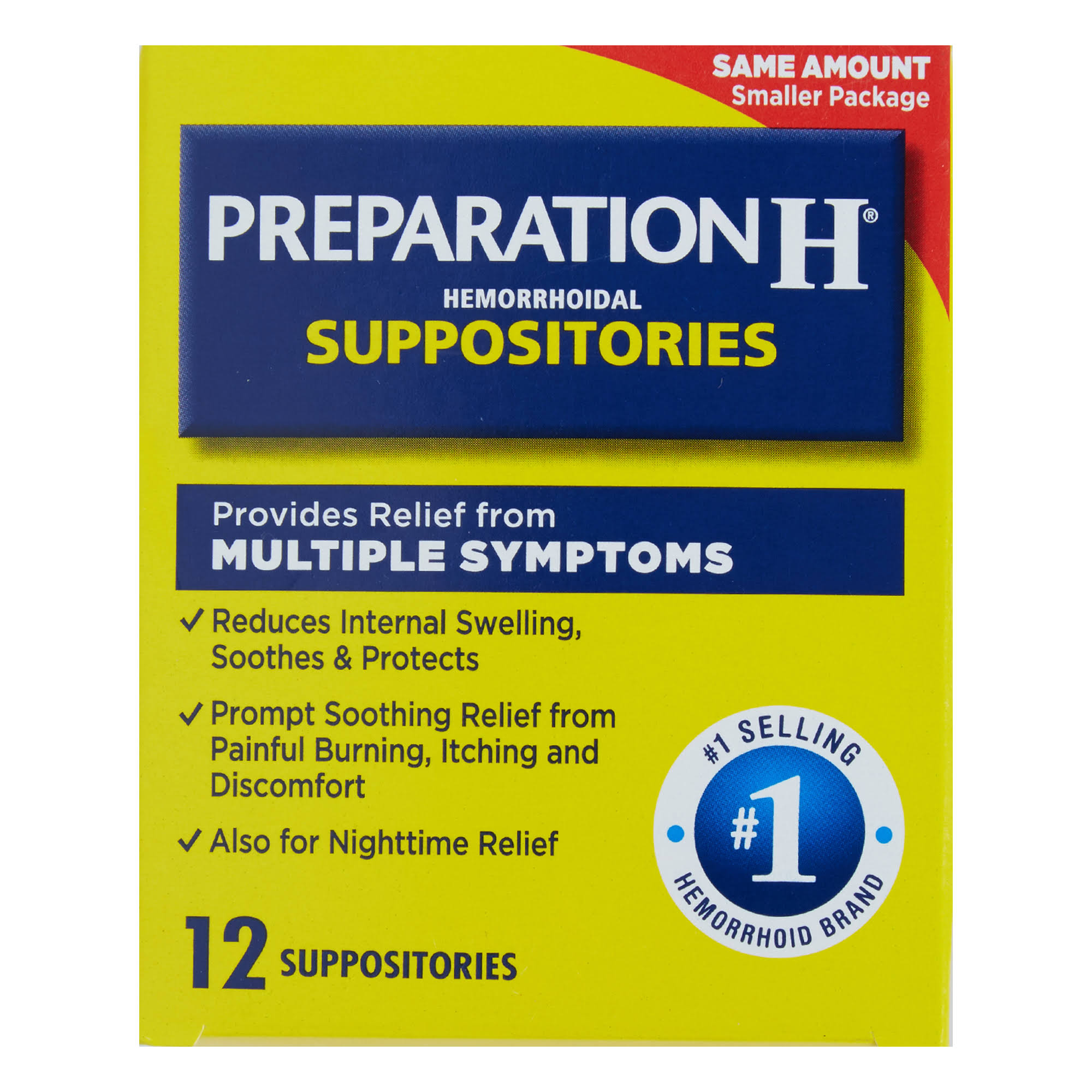 Preparation H Hemorrhoidal Suppositories - 12 Count