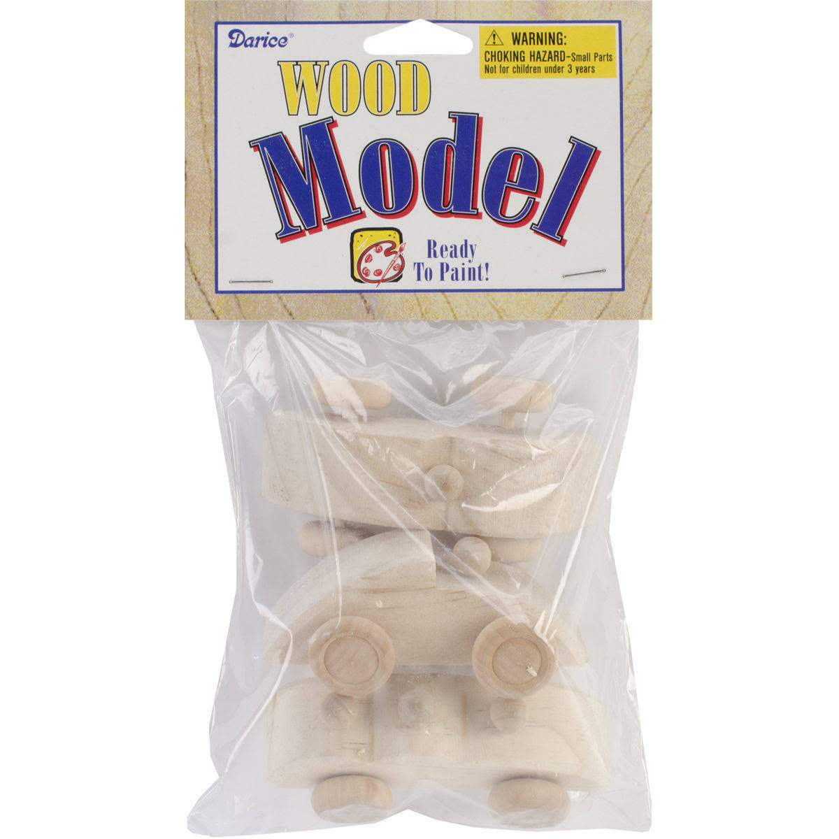 Wood Mini Race Cars Model Kit