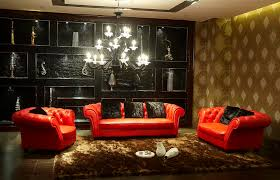 Brown Living Room Decorations by Red And Black Living Room 205 In W Red Black And Taupe Large