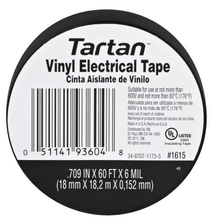 3M Tartan Vinyl Electrical Tape