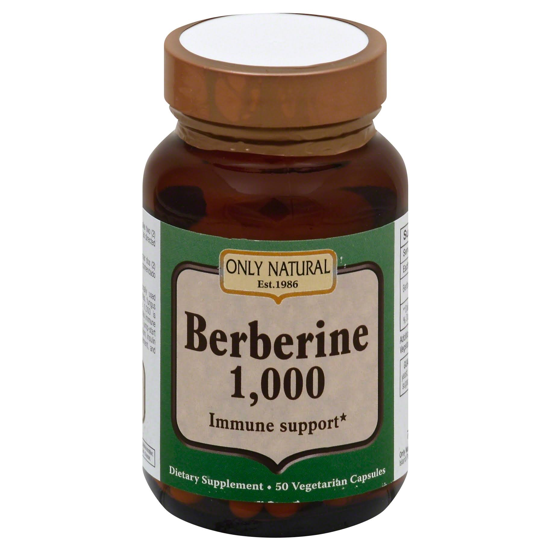 Only Natural Berberine 1000 Immune Support - 1000mg, 50 Vegetarian Capsules