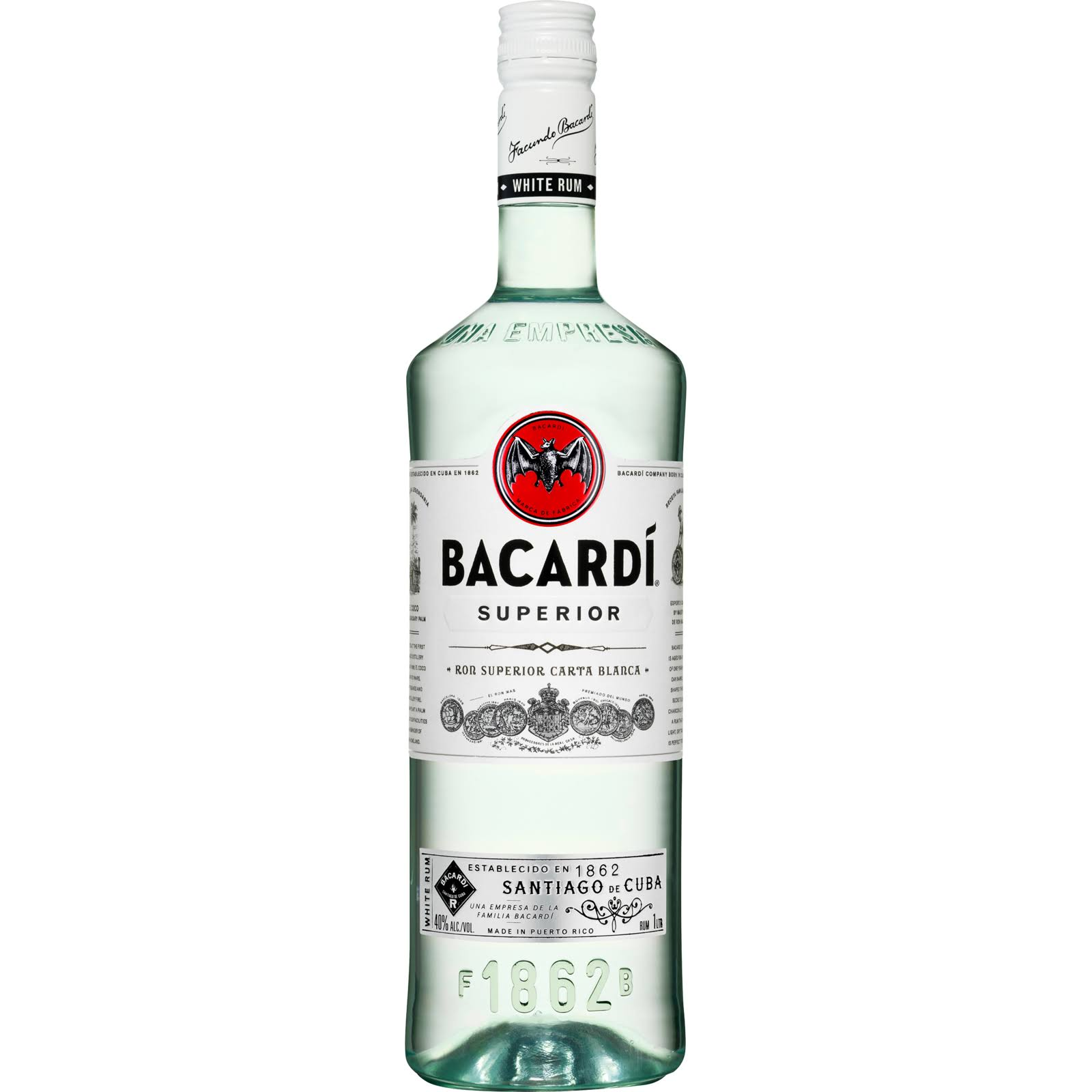 Bacardi Superior Rum - 1000ml