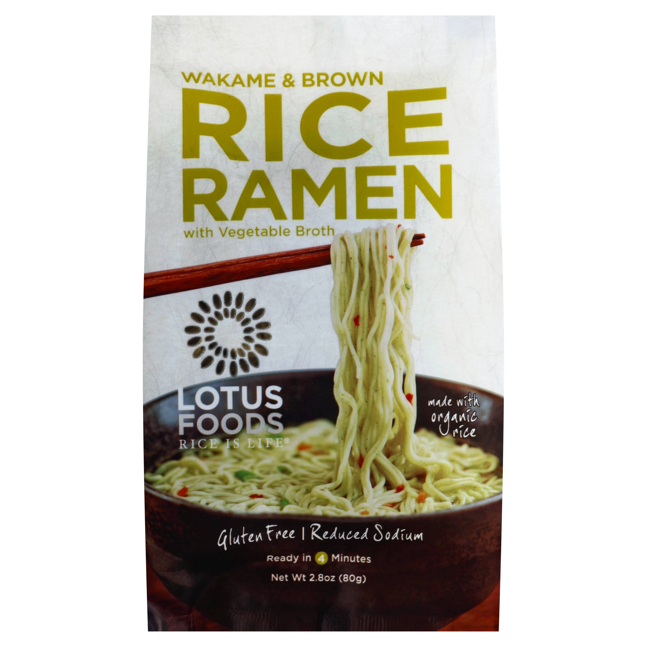 Lotus Foods Wakame and Brown Rice Ramen - with Vegetable Broth, 2.8oz
