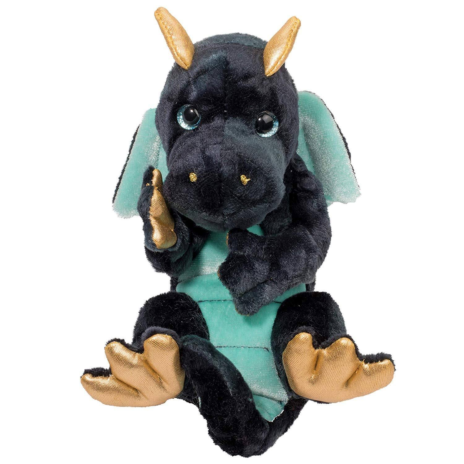 Douglas Navy Dragon Lil' Handful Plush Stuffed Animal