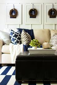 Brown Living Room Decorations by Fall Decor In Navy And Blue