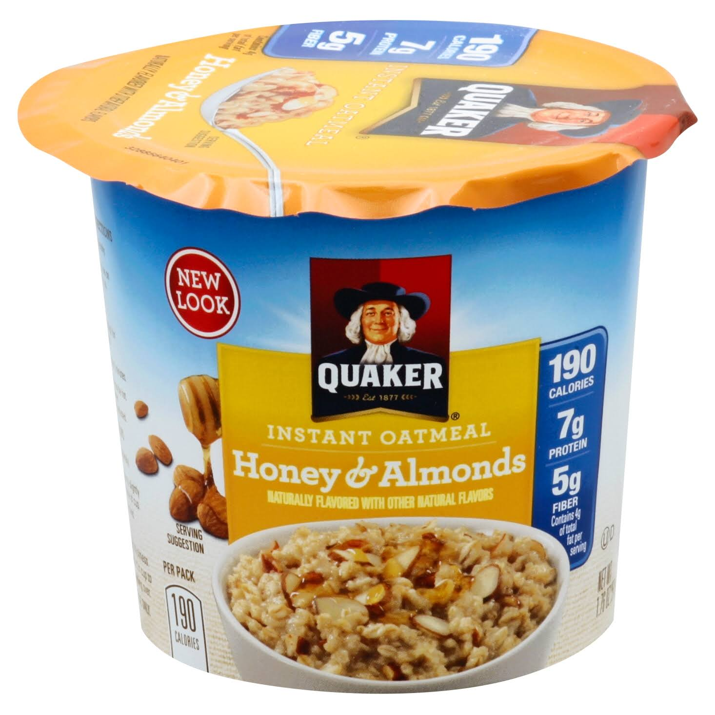 Quaker Instant Oatmeal - 1.76oz, Honey & Almonds