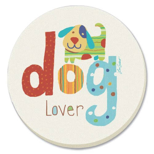 Counterart Decorative Absorbent Coasters, Dog Lover, Set of 4