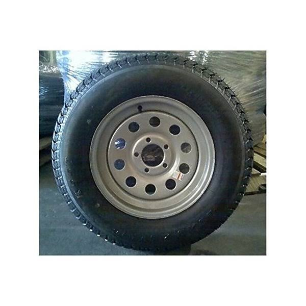Americana - 205/75D Tire15C/5H-5 Trailer Wheel Mini Modular Silver