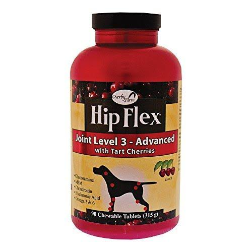 Overby Farm Hip Flex Joint Level-3 Advanced Care With Tart Cherries - 90 Chewable Tablets, 315g