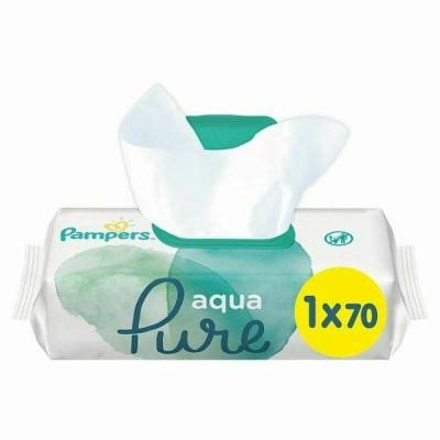Pampers Aqua Pure Baby Wipes - 70pcs