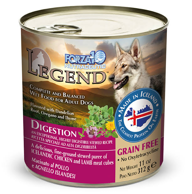 Forza10 Legend Digestion Chicken and Lamb Canned Dog Food - 11-oz, Case of 6