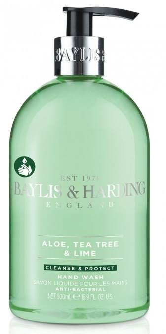 Baylis & Harding England Anti-Bacterial Luxury Hand Wash - Aloe, Tea Tree & Lime, 500ml
