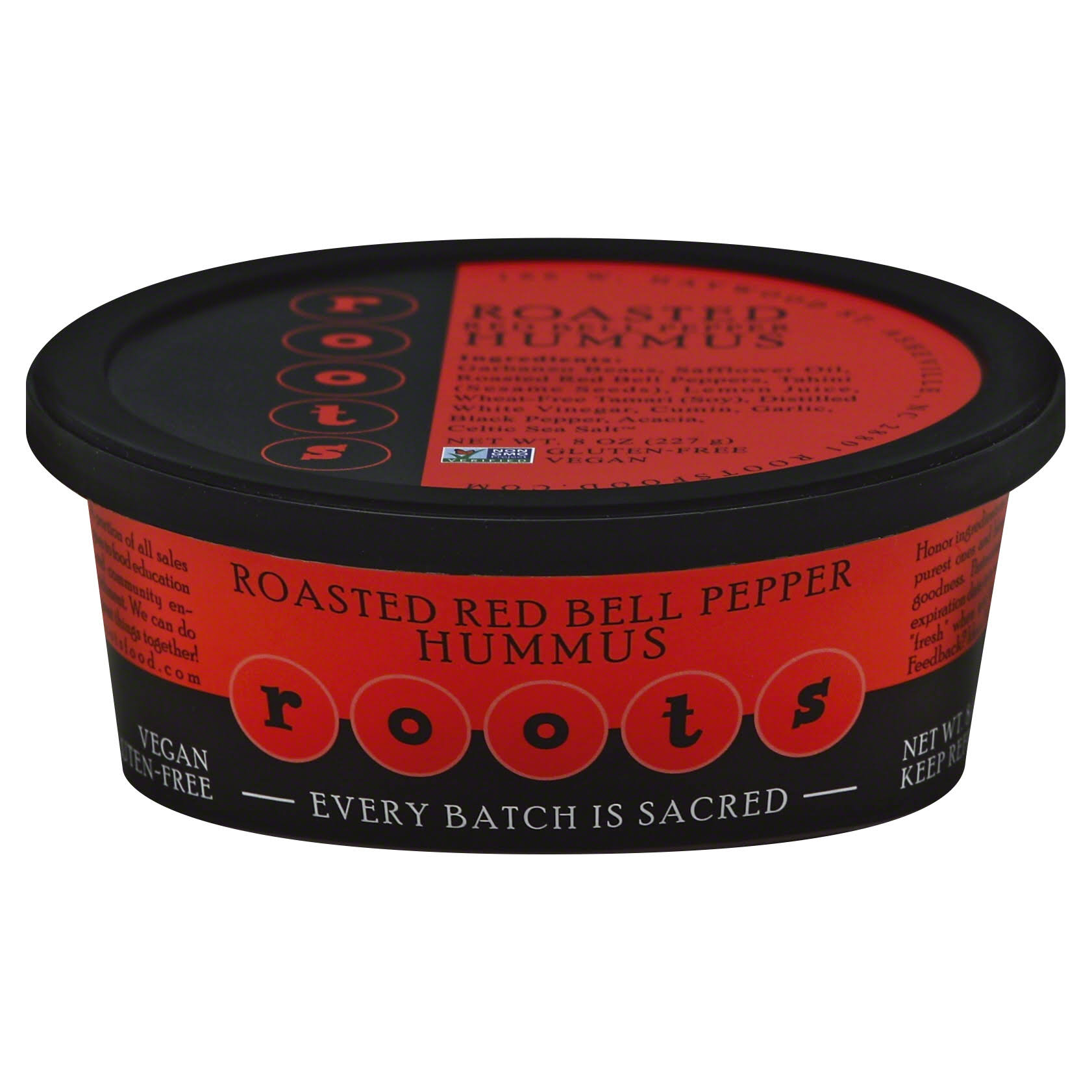 Roots Hummus, Roasted Red Bell Pepper - 8 oz