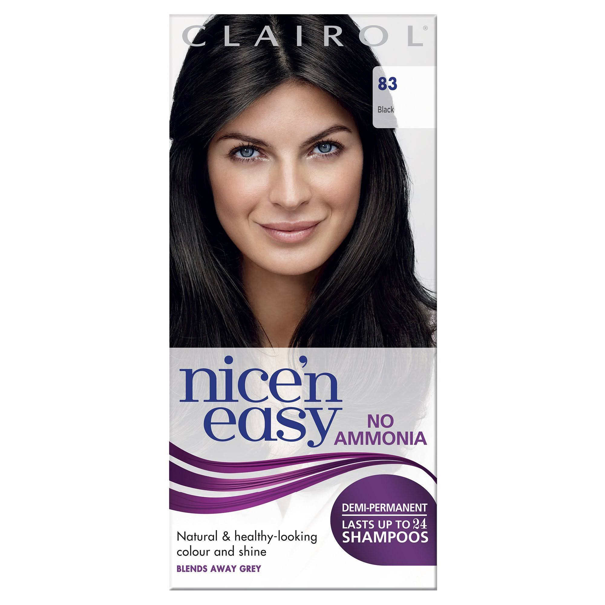 Nice'n Easy No Ammonia Hair Dye Black 83
