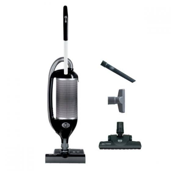 Sebo 9807AM Felix Onyx Upright Vacuum with Parquet - Black/Silver