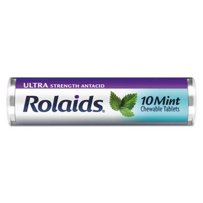 Rolaids Ultra Strength Antacid Chewable Tablets - Mint, 10pcs