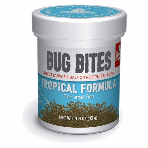 Fluval Bug Bites Tropical Formula Granules for Small Fish