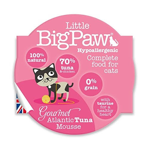 Little Big Paw Gourmet Atlantic Tuna Mousse Cat Food - 85g