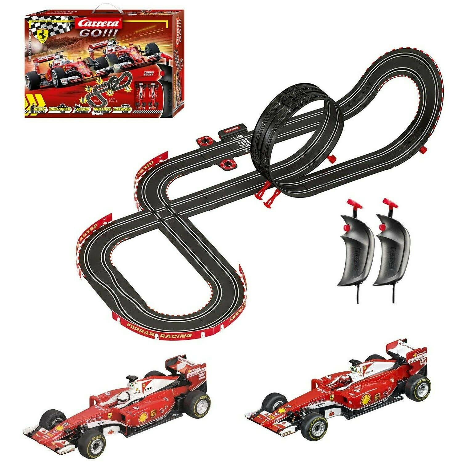 Carrera Go!!! 62505 Ferrari Race Spirit Electric Slot Car Racing Track Set System 1:43 Scale