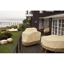 Fitted Outdoor Tablecloth With Umbrella Hole by Classic Accessories Veranda Rectangular Oval Patio Table U0026 Chair