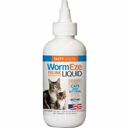 Durvet Wormeze Feline Anthelmintic Liquid - 4oz