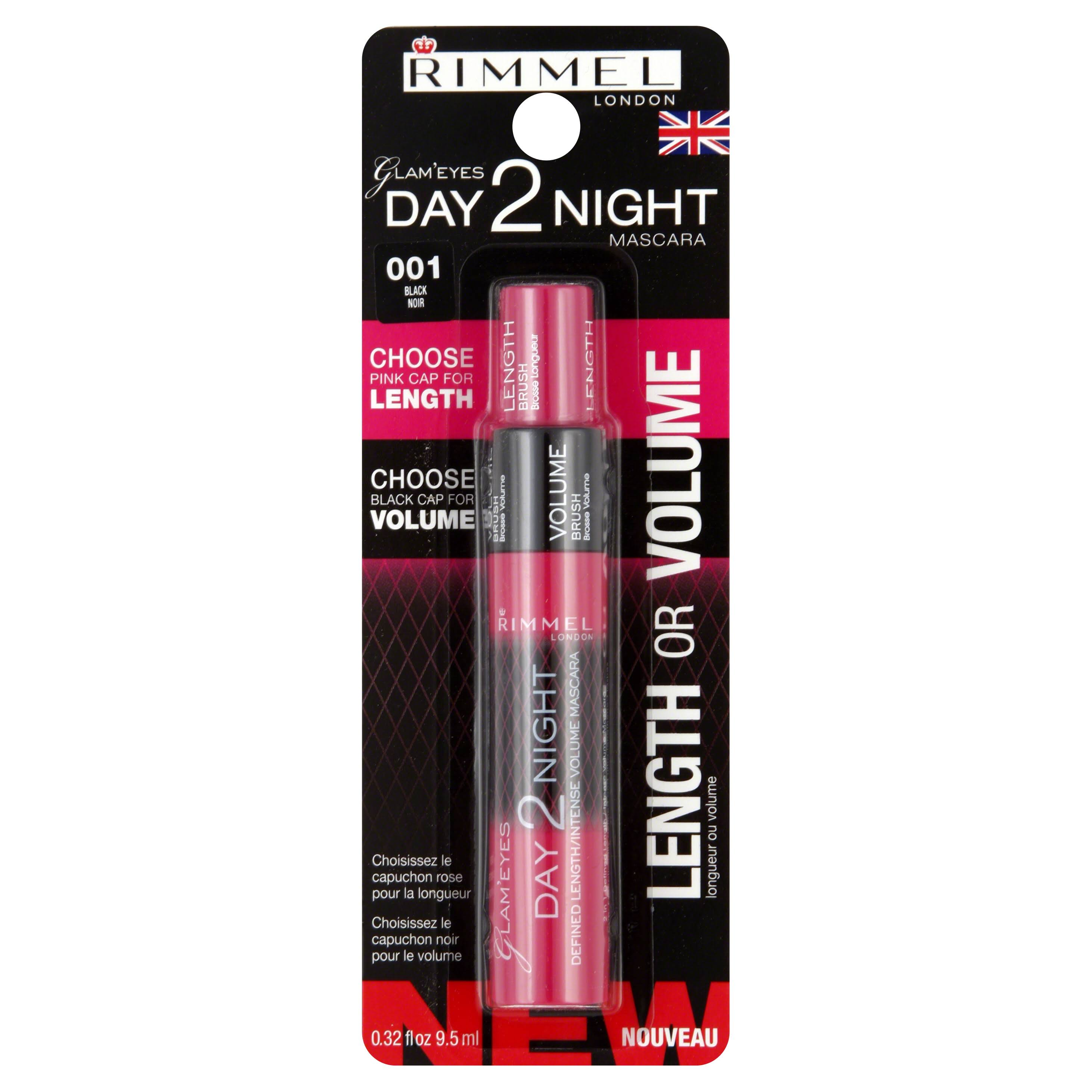 Rimmel Glam Eyes Day 2 Night Mascara - 001 Black, 9.5ml
