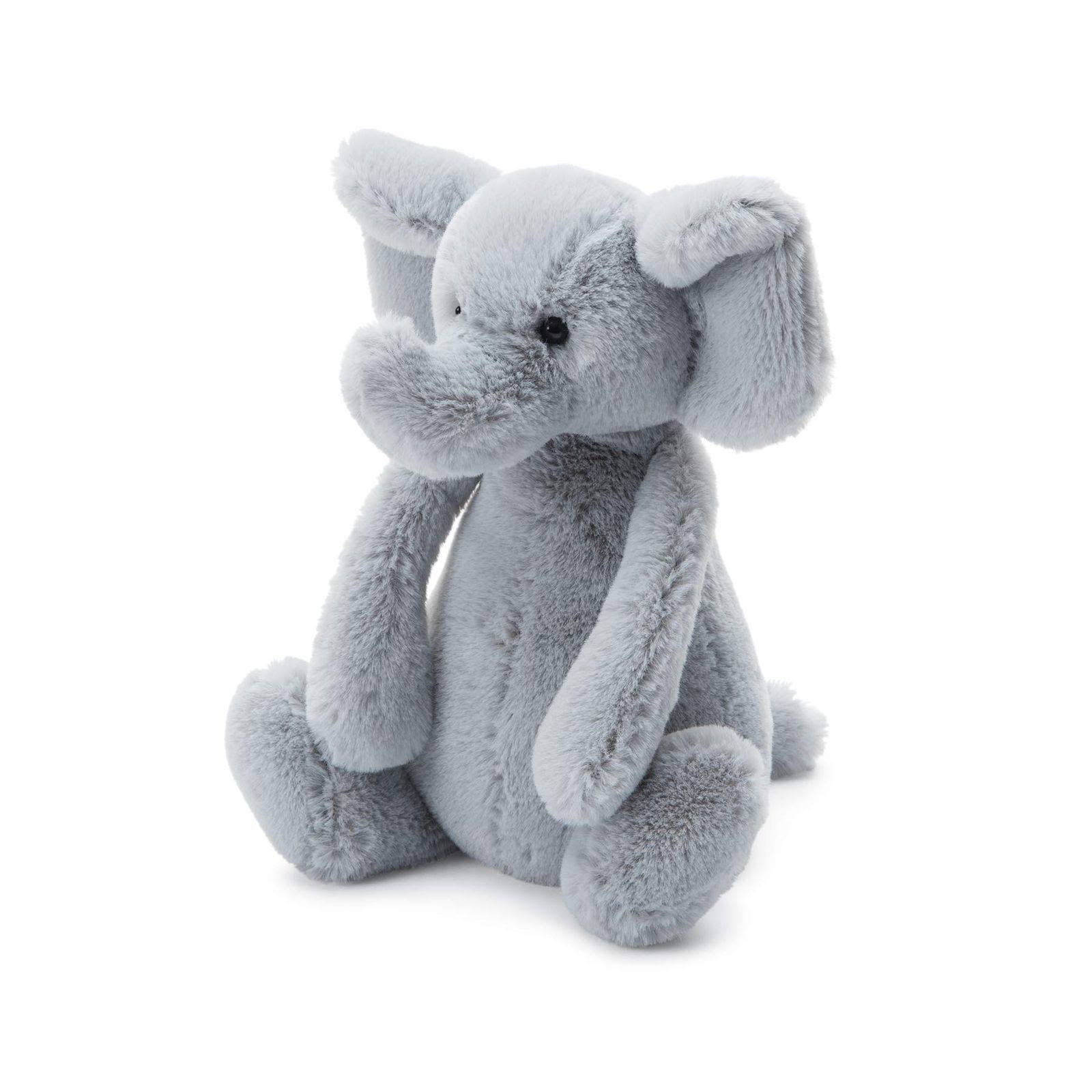 Jellycat Bashful Grey Elephant Stuffed Toy - Gray, 21""