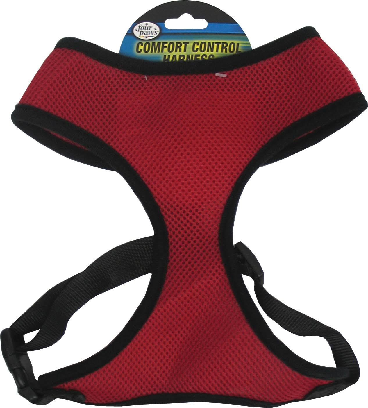 Four Paws Comfort Control Harness - Red - Small