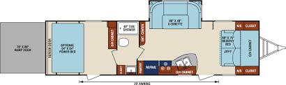 5th Wheel Toy Hauler Floor Plans by 2017 Sport Trek 302vth Good Life Rv
