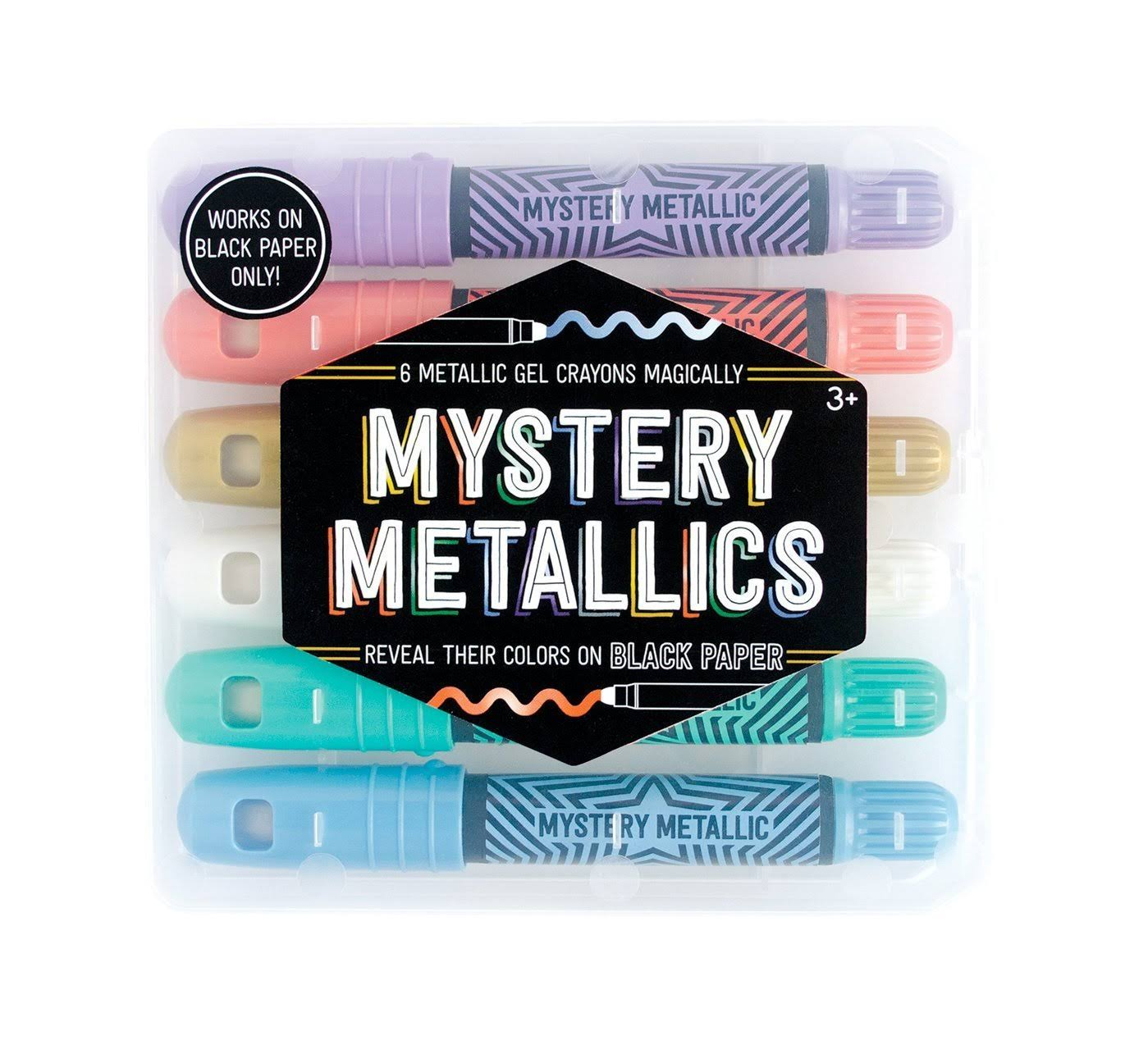 International Arrivals Mystery Metallics Gel Crayons - x6