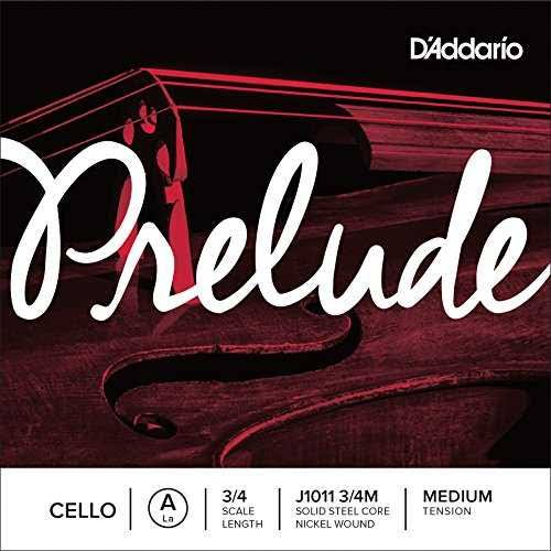 D'Addario Prelude Cello Single a String - 3/4 Scale, Medium Tension
