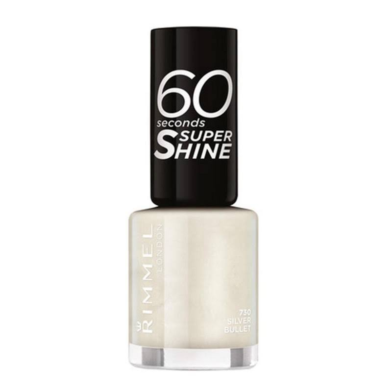 Rimmel London 60 Seconds Super Shine Nail Polish - 730 Silver Bullet, 8ml