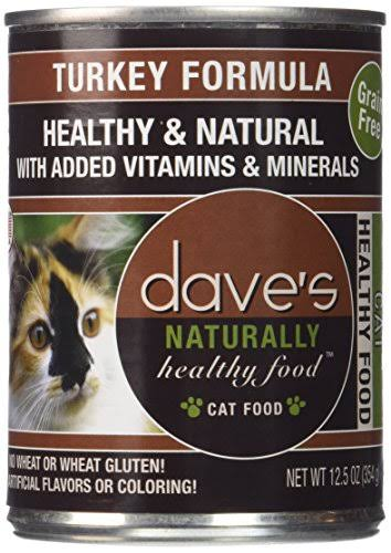 Dave 's Naturally Cat Food - Turkey Formula/